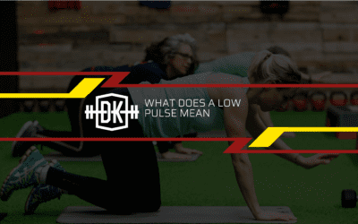 What does a low pulse mean?